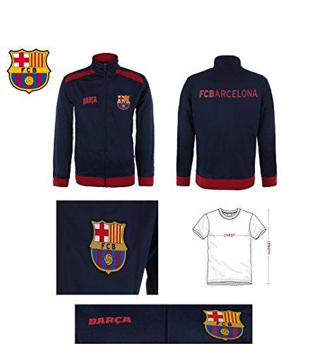 Fc Barcelona Jacket Track Soccer Adult Sizes Soccer Football Official Merchandise (Blue Red Barca , L)