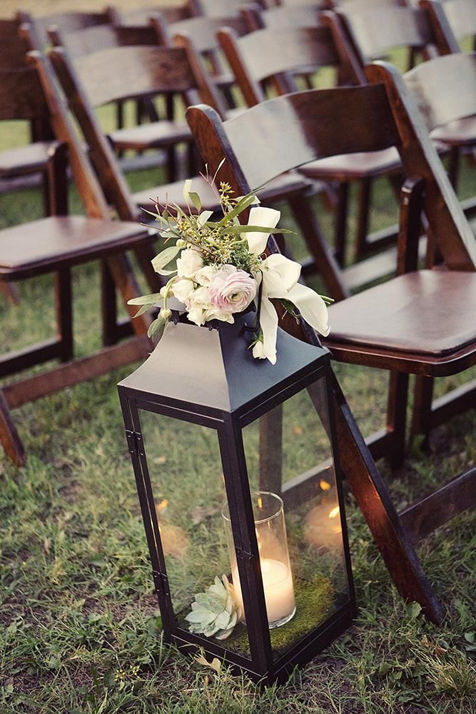 Pretty lantern aisle decor. Photo by Sarah Kate, Photographer. #wedding #aisle #lantern #decor