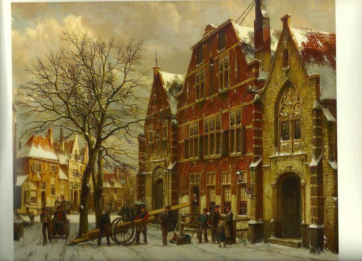 Painting by Willem Koekkoek.