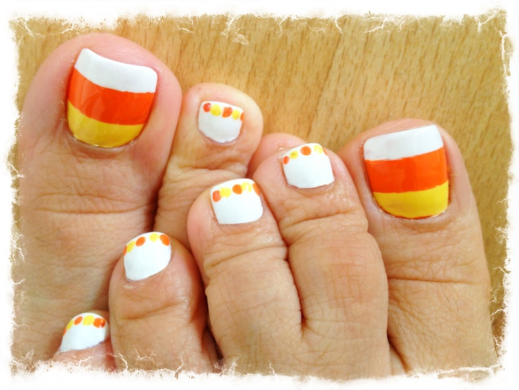 Tutorial Tuesday Abstract Candy Corn Nail Art Adventures In