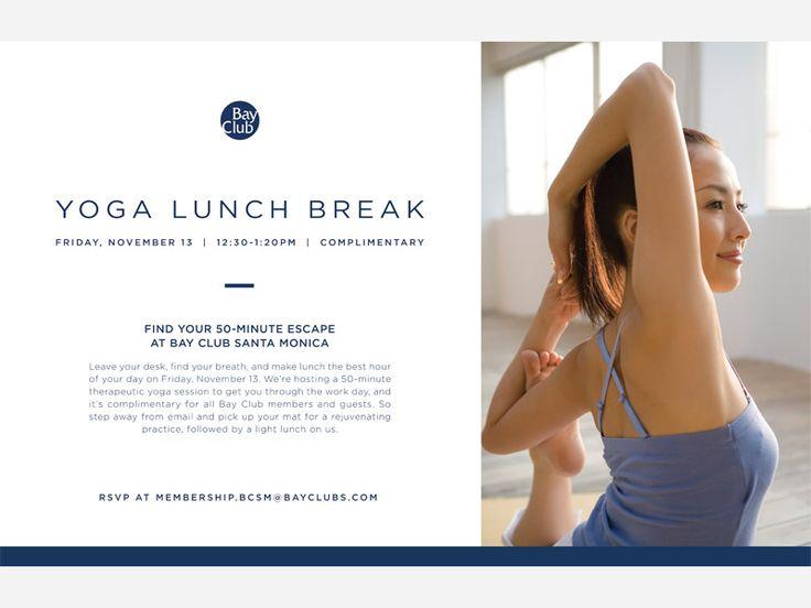 Bay Club Yoga Flyer Font, Baie e Blu - yoga flyer