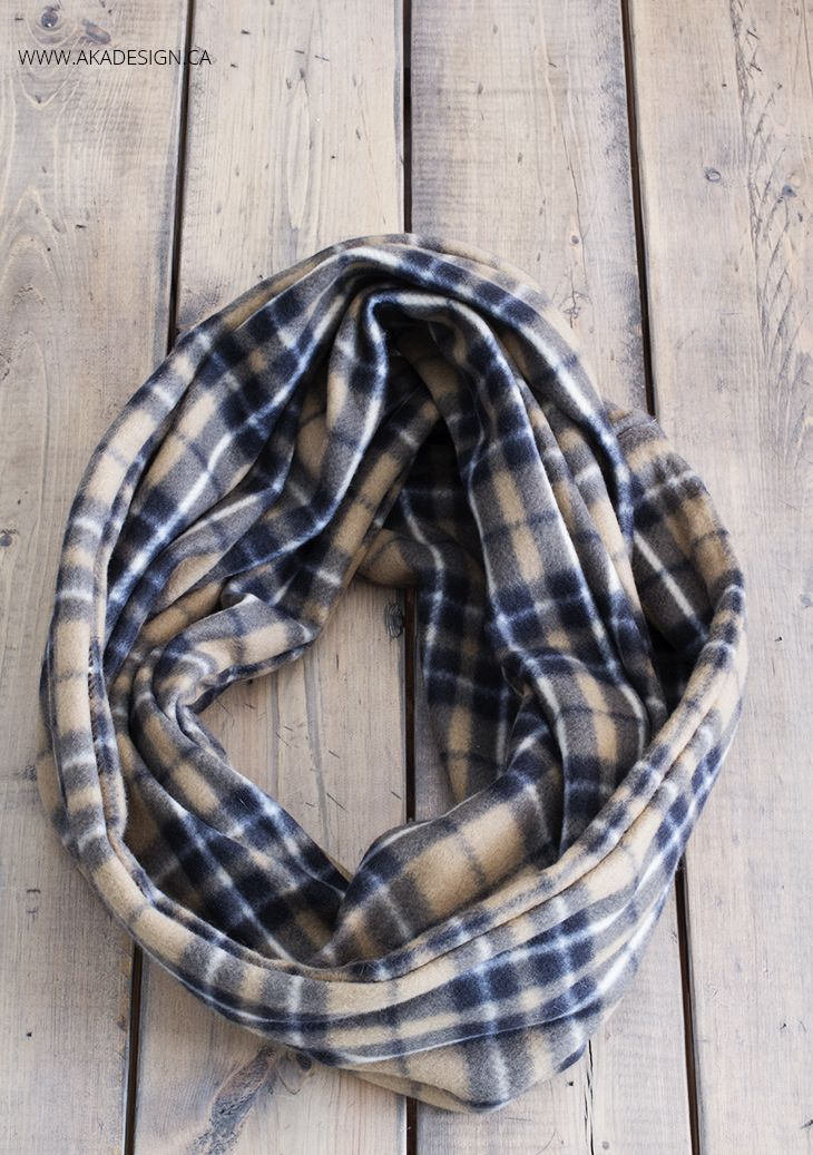 Make Your Own Fleece Infinity Scarf - http://akadesign.ca/make-your-own-fleece-infinity-scarf/