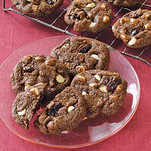 White Chocolate Cherry Cookies | MyRecipes.com...This variation on the usual chocolate chip cookie includes extra goodies: white chocolate and dried cherries.  As if chocolate and cherries weren't already a great pair, these cookies shine with white chocolate chips.