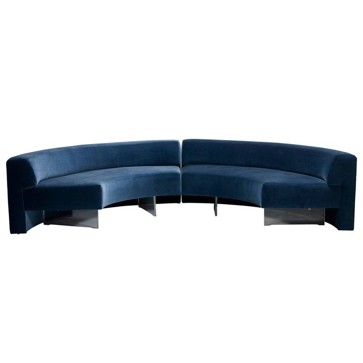 Omnibus Sofas, Pair by Vladimir Kagan for Vladimir Kagan Designs, Inc. | From a unique collection of antique and modern sectional sofas at https://www.1stdibs.com/furniture/seating/sectional-sofas/