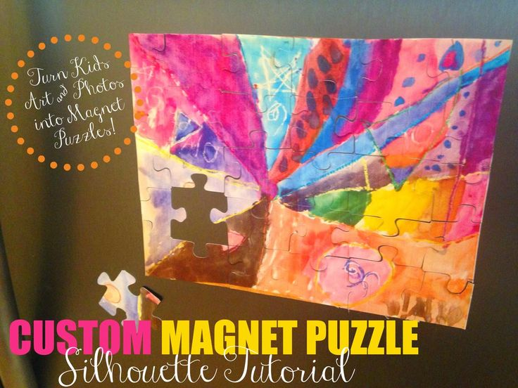 DIY Custom Puzzle Magnet: Silhouette Tutorial