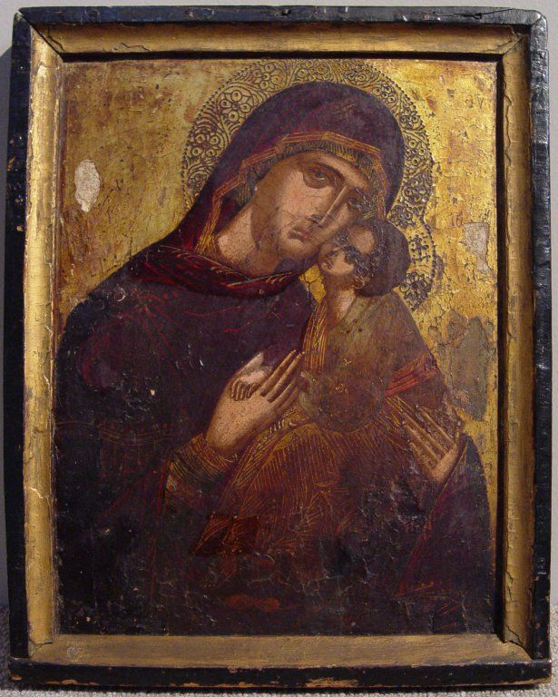 Cretan Icon with the Virgin and Child, c. 1500