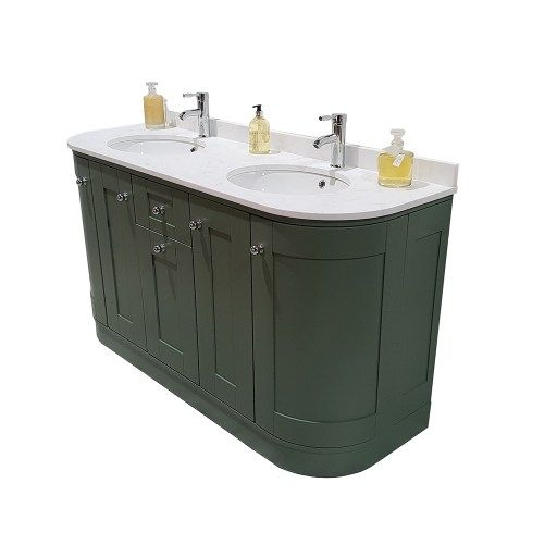 Curved Painted Vanity Unit Emily Double Undermount In 2020