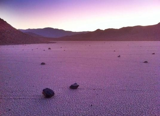 The Sailing Stones of Racetrack Playa | Atlas Obscura