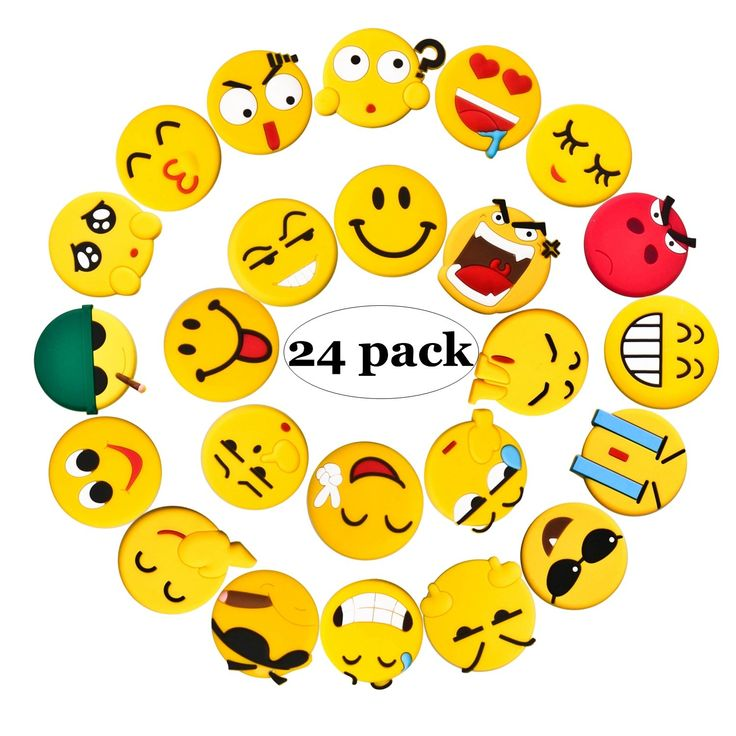 Fridge Magnets, 24 Pack Emoji Refrigerator Magnets with Funny Kitchen Decor Noticeboard Office Supplies, Best Housewarming Gift.