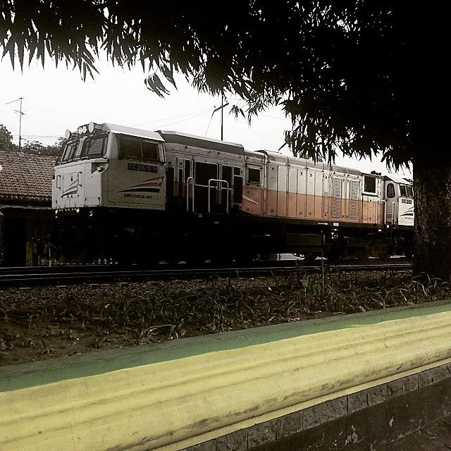 Tatkala menjelang sore KA Sarangan melintasi stasiun Jombang. #kereta_api_indonesia #keretaapikita #InstaKAIJuli4 #CC206 #railways_of_our_world #railpictures #railfans #railwaystation #trains_worldwide #semboyan35 #railwayphotography #kereta #keretaapi #Trains_nerd #transportation #indonesia #indoneaiarailway #railcrew #sepur #wesel #locomotive #GE #general_electric #kudabesi #locomotive #rangkaianKA by josua_pandu