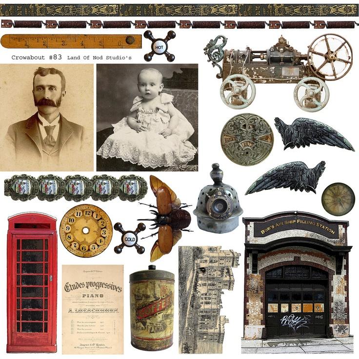 Steampunk Collage Sheet