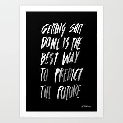 PREDICT Art Print by WRDBNR - $17.00
