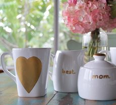 DIY Gift Guide: Mother's Day Mugs  Need a gift for Mom? Make your own personalized gift for mom. Easy and cheap. Complete it with a one pound bag of our home roast.
