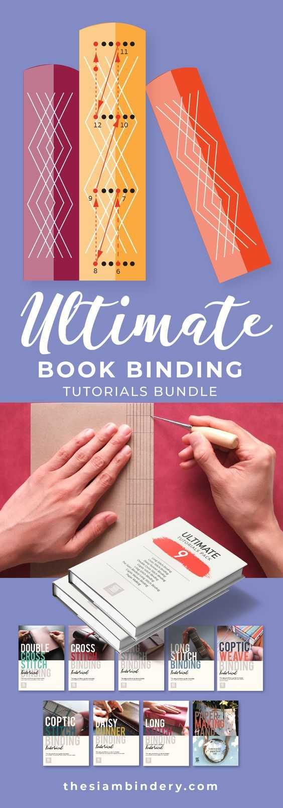Ultimate Tutorials Pack Includes 8 Bookbinding + 1
