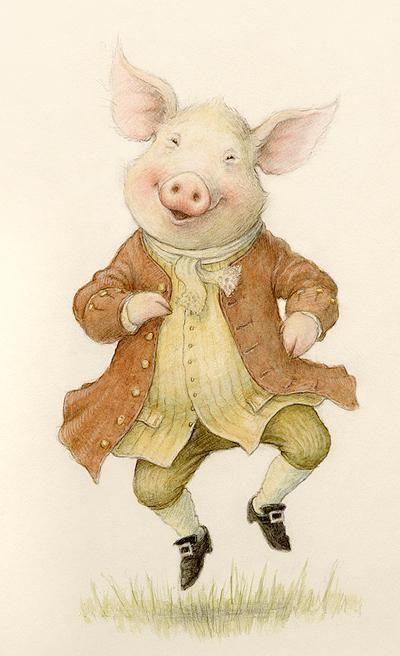 #illustration #Pig Jig - Petra Brown
