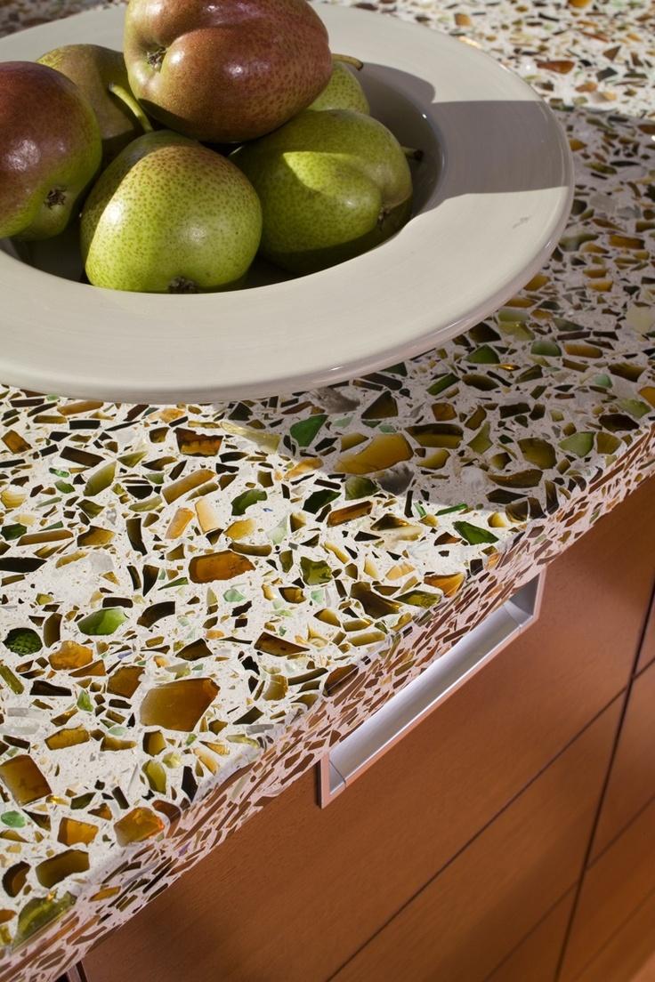 Because everyone has granite... glass concrete counters.
