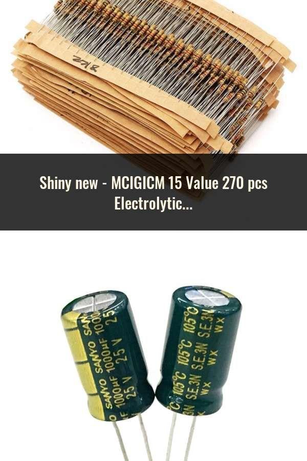 Each 20Pcs 300Pcs 15 Value Electrolytic Capacitors Assortment Box NEW