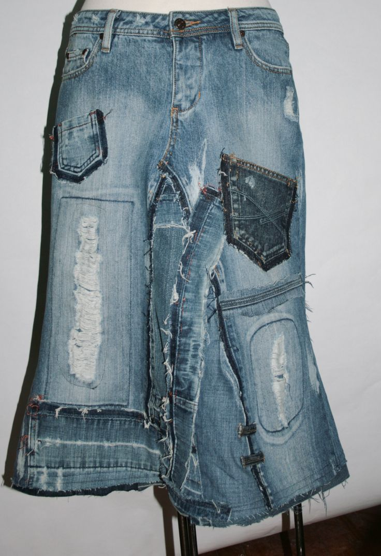 Recycled Denim Skirt 73