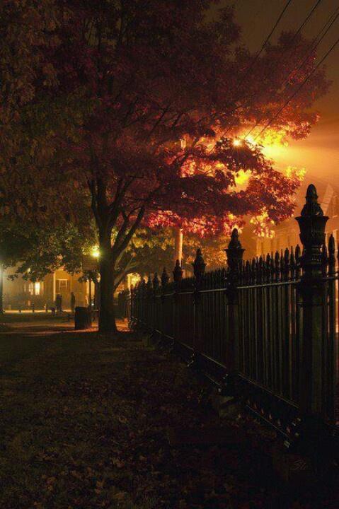 Salem, Halloween night.....Spooky! ;)