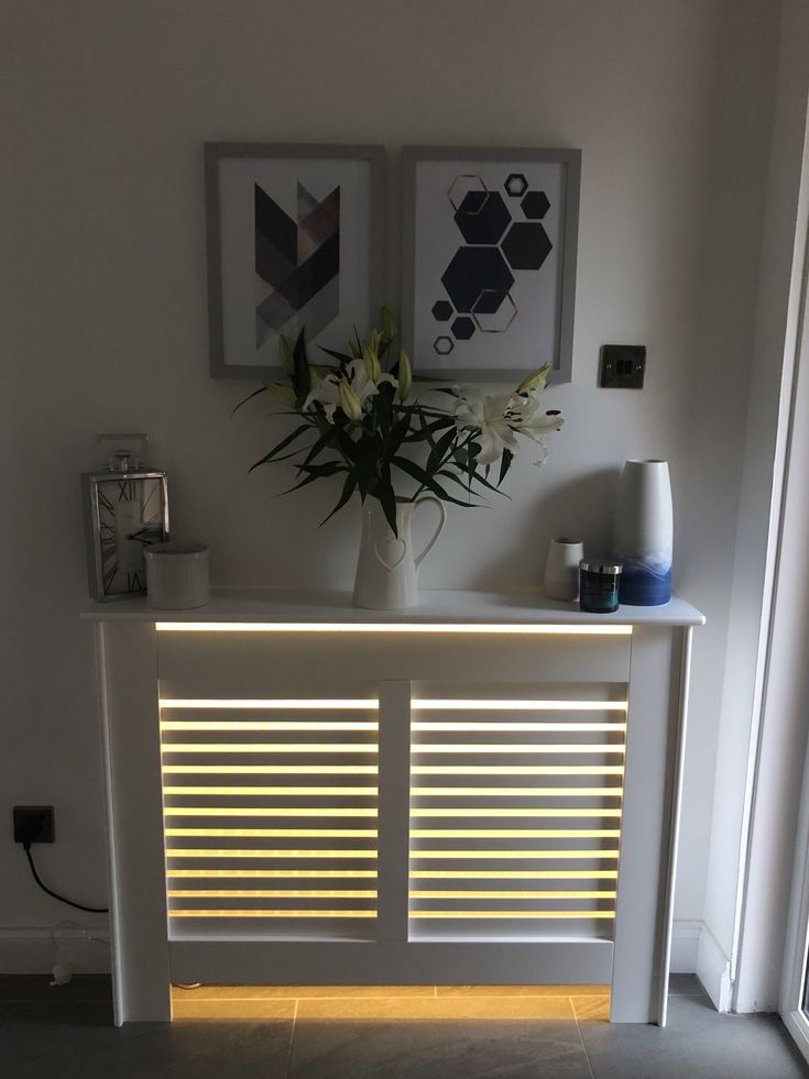 Radiator cover with hidden Led strip lights. Very ...