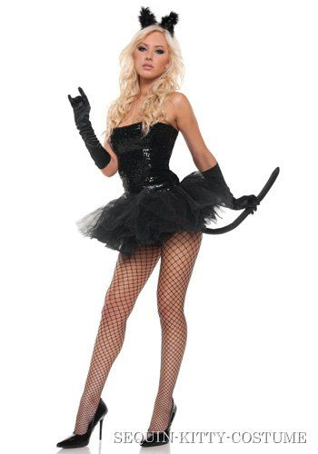 fe11aa18669 Sexy Sequin Kitty Costume Be the adorable kitten who is looking for trouble  this Halloween when you go in this Fredericks of Hollywood sexy kitten  costume!