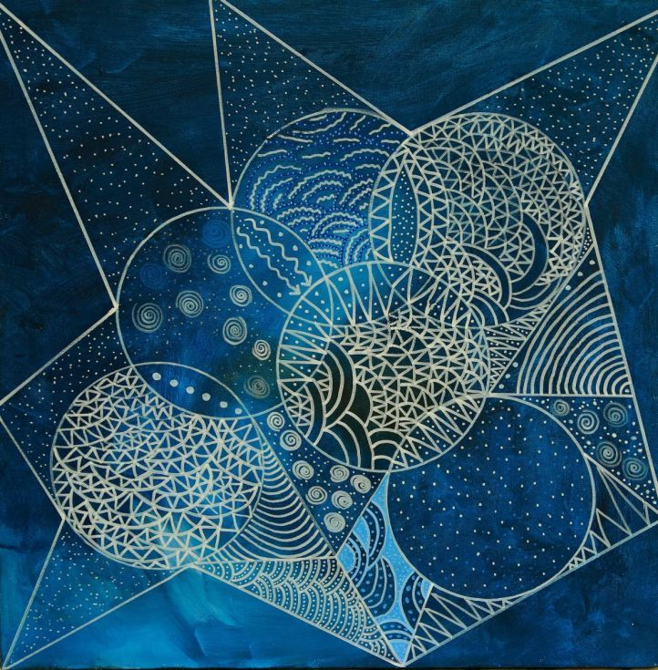 Buy Blue Moon, Mixed Media painting by Riana  van Staden on Artfinder. Discover thousands of other original paintings, prints, sculptures and photography from independent artists.
