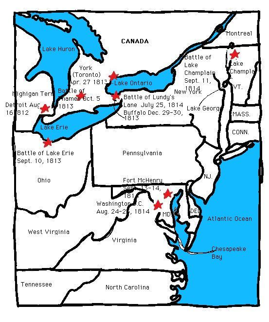 The Major Battles of the War of 1812 (C3, W7)