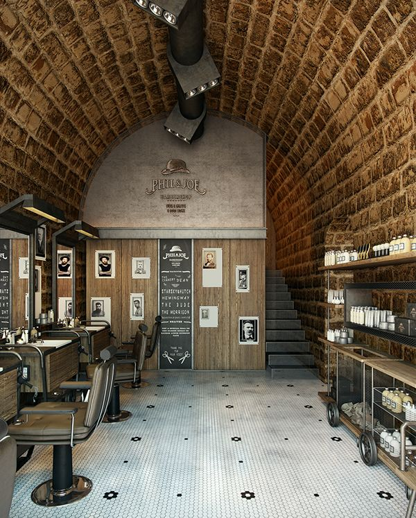 A Barber shop soon to be opened in Gemayzeh proudly designed by Bachir Nader And visualized by Kframe