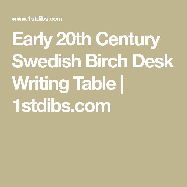 Early 20th Century Swedish Birch Desk Writing Table | 1stdibs.com