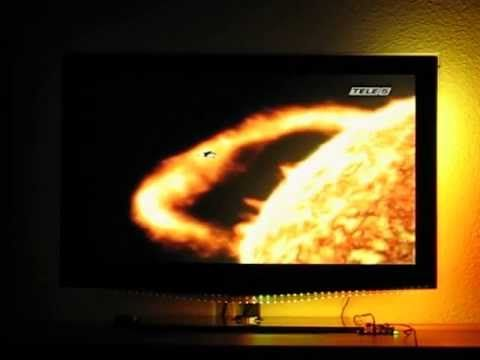 DIY TV Ambilight without PC, 170 channels, WS2812 LED stripe (newest version has 240-channels and is customizeable)