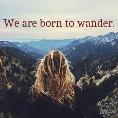 We are born to Wander