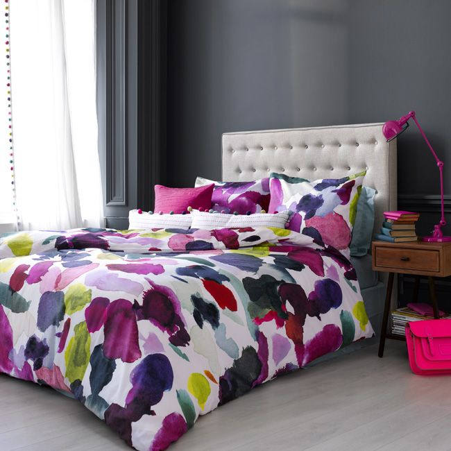 Watercolour duvet cover by Bluebellgray (Abstract Multi)