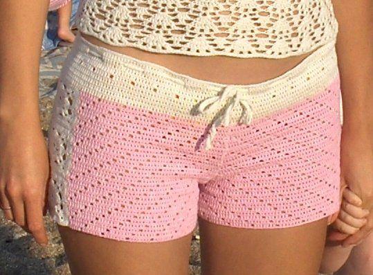 Ажурные шорты крючком. Легкие летние шорты, связанные крючком, выгодно…
