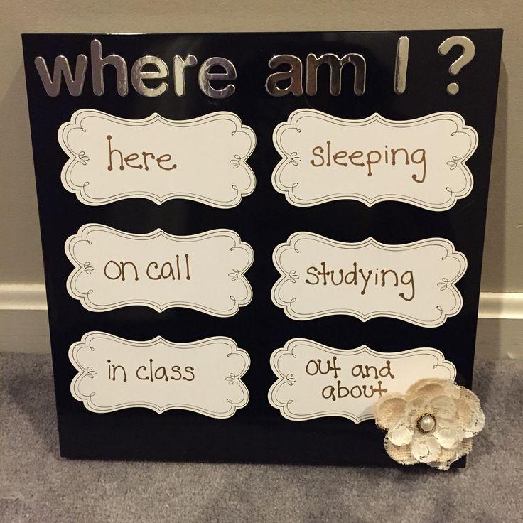 """RA """"Where Am I?"""" magnetic board"""