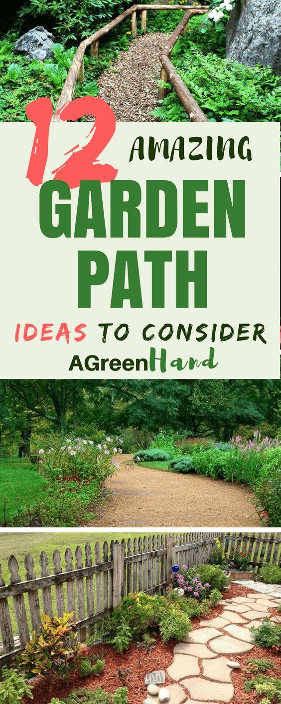 12 Amazing Garden Path Ideas To Consider #gardenpath #diy #gardeningideas #gardeningtips #agreenhand