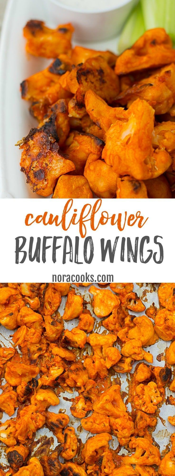 Easy and spicy Vegan Cauliflower Buffalo Wings! Perfect Game Day food! GF option.