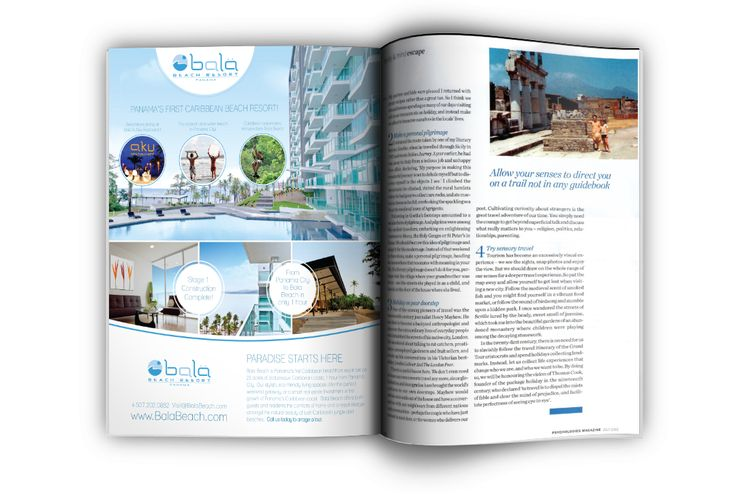 Bala Beach Resort magazine ad design