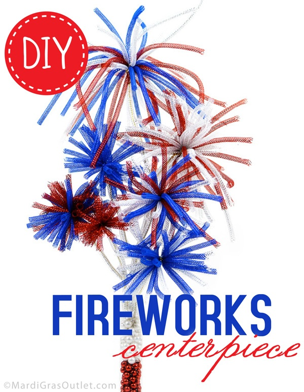 DIY Fireworks Centerpiece with Deco Flex Tubing Ribbon for ...