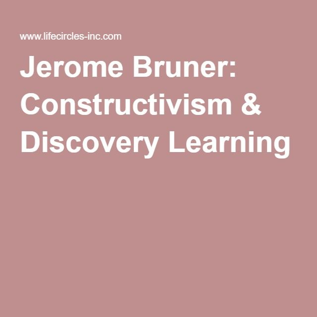 Jerome Bruner: Constructivism & Discovery Learning