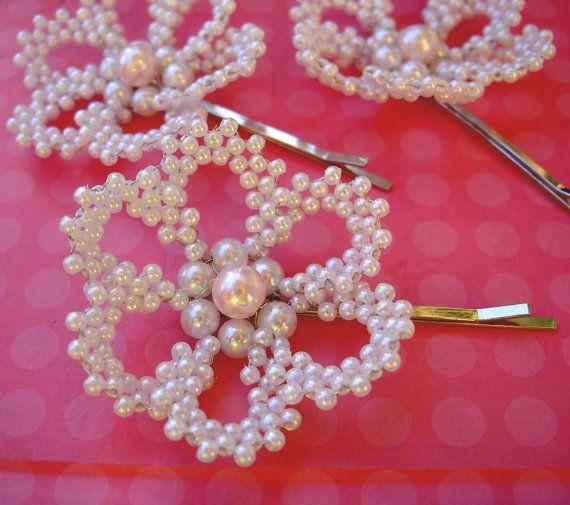 Pearl flower Flower Girl Hair Accessories  Flower Girl by Umis, $15.00