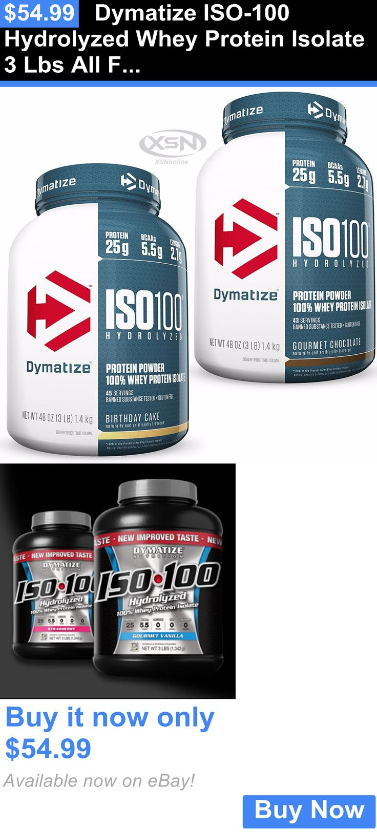 Other Sports Supplements: Dymatize Iso-100 Hydrolyzed Whey Protein Isolate 3 Lbs All Flavors Free Usa Ship BUY IT NOW ONLY: $54.99