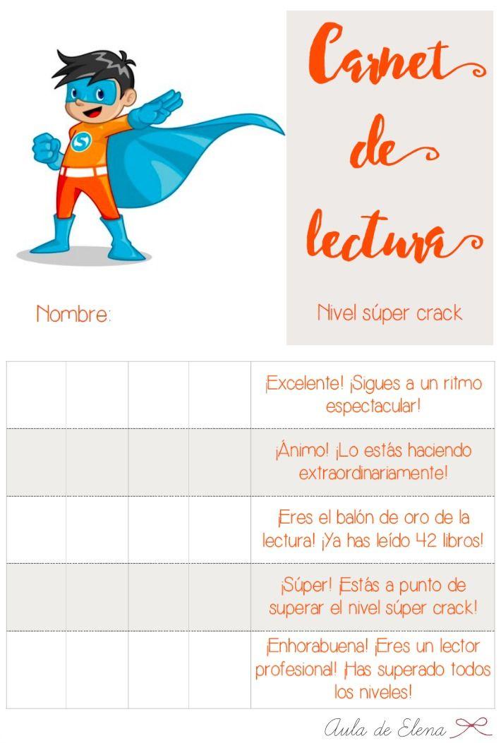 Aula de Elena: Nuevo carnet de biblioteca de aula: ¡Súper crack!