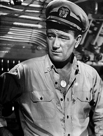 "Titles: Operation Pacific Names: John Wayne Characters: Lt Cmdr. Duke E. Gifford Edit Tags ""Operation Pacific,"" Warner Bros. 1950."