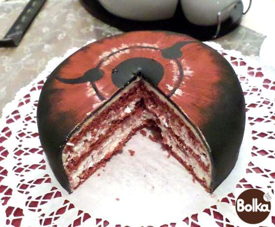 Decorated cake/dísztorta (Sharingan)