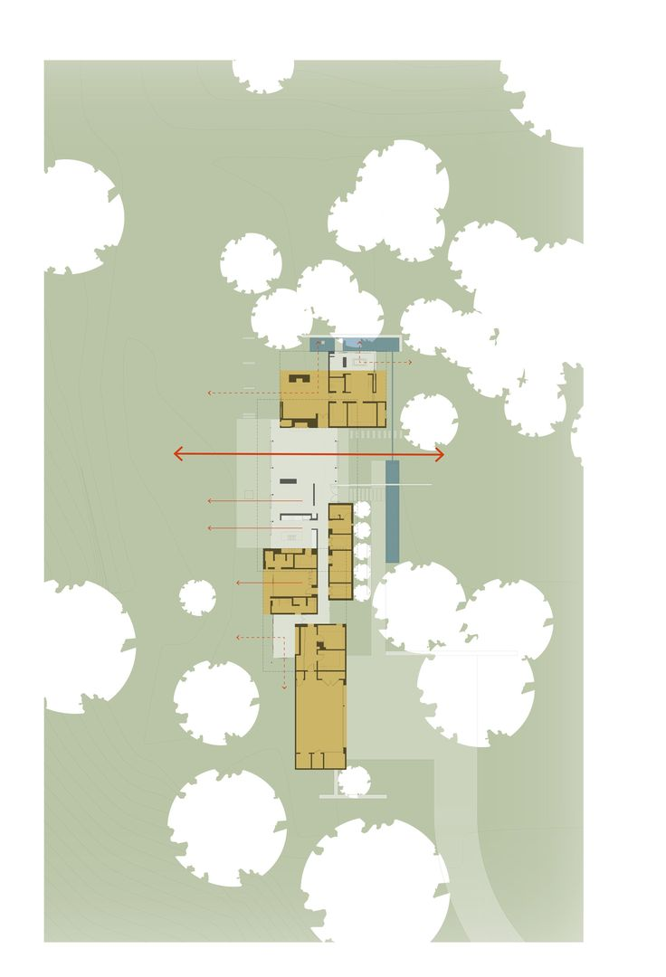 Image 12 of 12 from gallery of San Joaquin Valley Residence / Aidlin Darling Design. Ground Floor Plan
