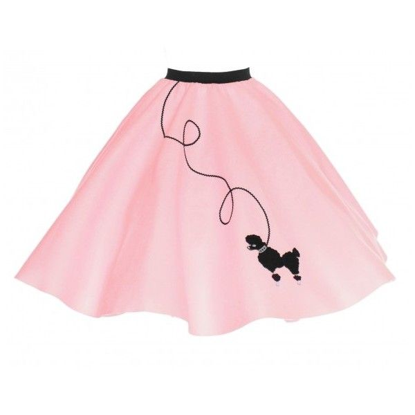 50's POODLE SKIRT Adult LIGHT PINK ($36) ❤ liked on Polyvore featuring skirts, long pink maxi skirt, circular skirt, circle skirt, long circle skirt and long skirts