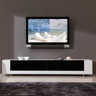 Roma White 2-drawer TV Stand - Free Shipping Today - Overstock.com - 13601008 - Mobile
