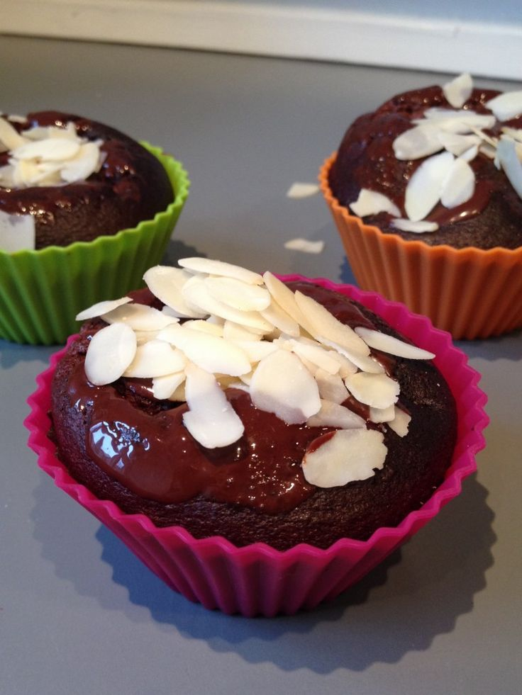 Chokolade/banan protein muffins