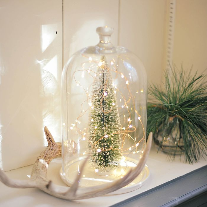 DIY Holiday Sparkle Glass Dome