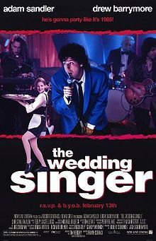 """THE WEDDING SINGER"", Starring: ADAM SANDLER & DREW BARRYMORE (1998)"